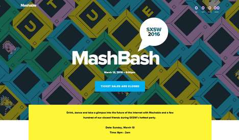 Sensory Conference Events - Mashable's MashBash is an Interactive Party at South by Southwest
