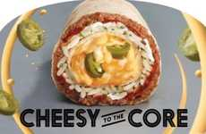 Cheese-Stuffed Burrritos - The New Core Burritos from Taco Bell Feature a Cheesy Center