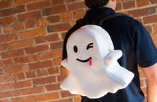 Social Media Knapsacks - This Snapchat Novelty Backpack is Shaped to Resemble the App's Ghost Mascot