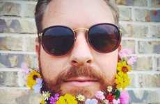 Men Have Begun SportingFloral Beards for the Spring Season