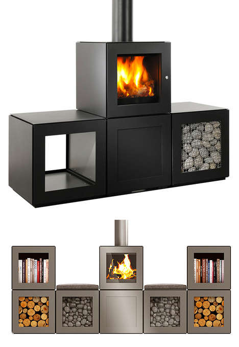 Modular Stove Systems - The SPEETBOX Wood Stove is Designed in Cubes for Customized Arrangement