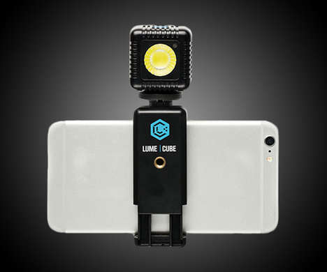 Light-Increasing Smartphone Accessories - The Lume Cube Photo Flash Adds More Light with a Mount