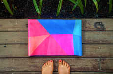 Ultra-Thin Yoga Mats - The Travel Mat by Yoga Design Lab Saves Space with a Foldable Design