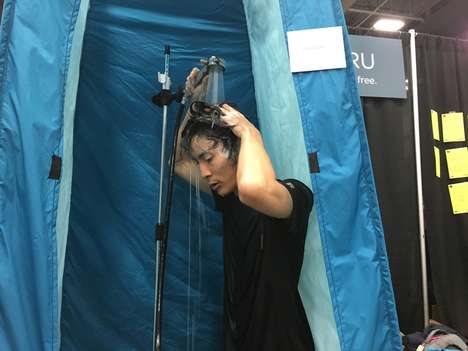 High-Pressure Portable Showers - Hotaru Shower Stalls Provide Eco-Friendly Benefits to Users
