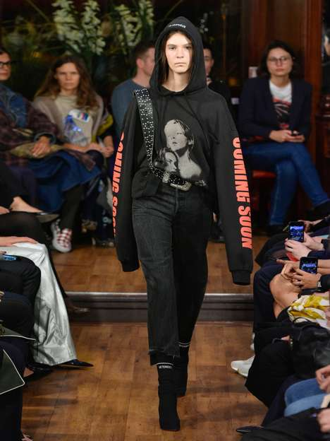Blockbuster-Themed Designer Hoodies - The 'Coming Soon' Vetements Hoodie Features Jack and Rose