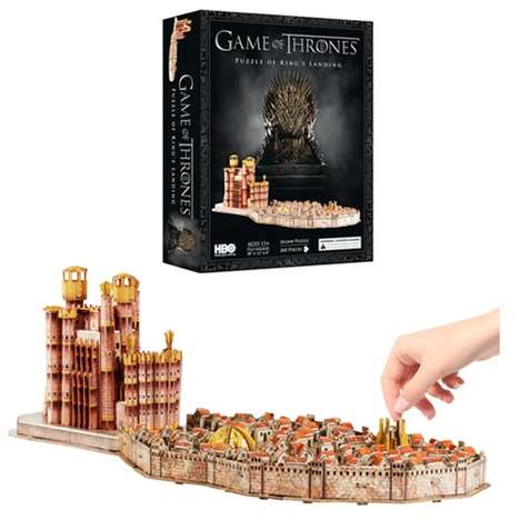 Medieval Architecture Puzzles - The Game of Thrones King's Landing 4D Puzzle is Ornately Detailed