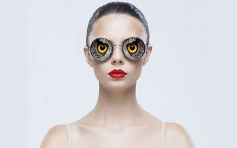 Ocular Animalistic Glasses - This Collection of Glasses Replaces Human Eyes with Animal Eyes