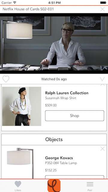Wardrobe-Identifying Apps - The Ever App Identifies the Clothing Worn by Characters on Television