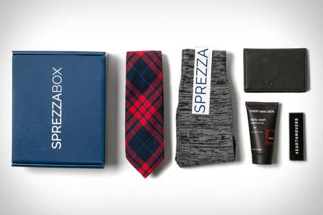 Manly Accessory Subscription Services - The Sprezzabox Service Helps Men Complete Their Look