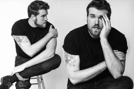 Plus-Size Male Model Departments - This Modeling Agency Launched a Plus-Size Male Modeling Division