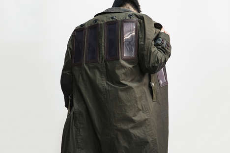 Solar-Powered Charger Coats - This Junya Watanabe Coat Uses Solar Power to Charge iPhones