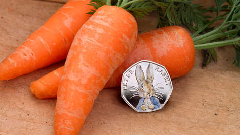 Literary Rabbit Coins - The Royal Mint Released a Peter Rabbit Coin for Easter
