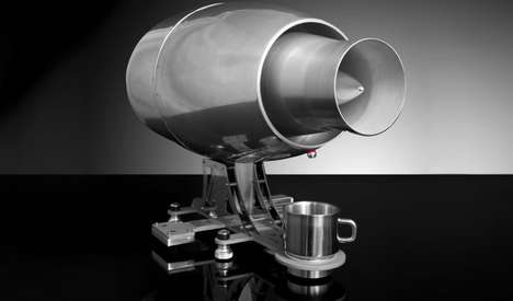 Jet Engine Espresso Machines - The Aviatore Veloce Espresso Maker Takes the Form of a Jet Engine
