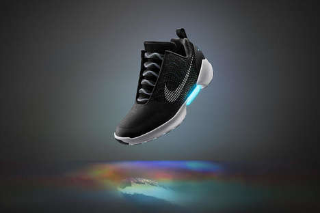 Futuristic Self-Lacing Sneakers - The 'HyperAdapt 1.0' by Nike Features Real-Life Power Laces
