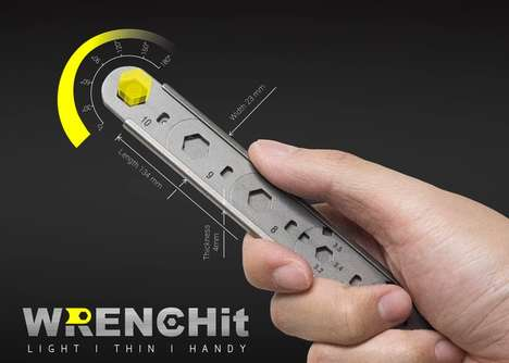 Slim Interchangeable Wrenches - The 'WRENCHit' is an All in One Tool that's Easy to Use