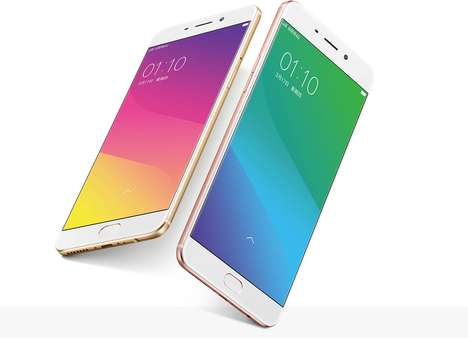 Sleek Expandable Smartphones - The Oppo R9 and R9 Plus Feature Fast Charge Technology and More