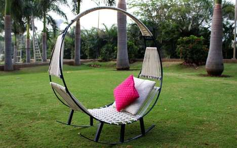 Relaxation Hybrid Seating - This Outdoor Rocking Chair is One Part Chair, One Part Hammock