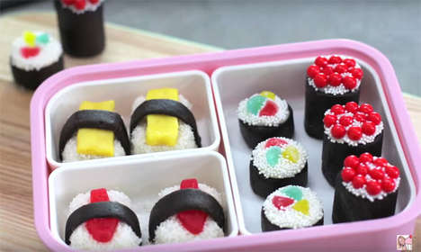 Disguised Dessert Sushi - These Bento Box Sushi Pieces are Made out of Sweet Cake Pop Flavors