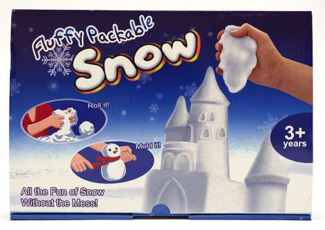 Faux Precipitation Toys - The Indoor Snow Kit Can be Used Over and Over Without Melting
