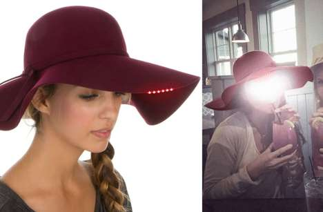 LED Anti-Surveillance Hats - The Justice Fedora Hides Your Face From NSA's Security Platform