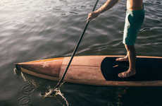 Sustainable Wooden Paddle Boards