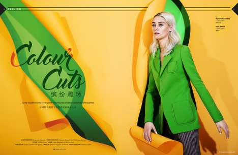 Vivid Colorblocked Fashion - This Benjamin Kanarek Photoshoot Highlights Expressive Hues
