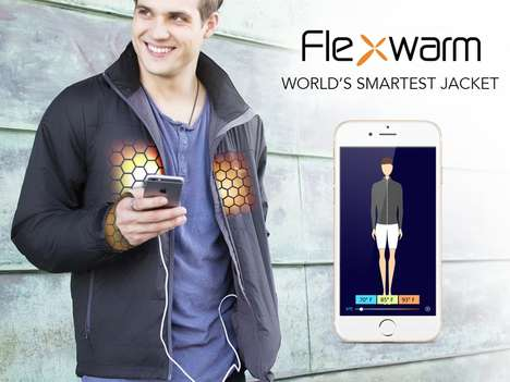 Customized Warmth Jackets - 'Flexwarm' Smart Jackets Adapt to Your Body Temperature