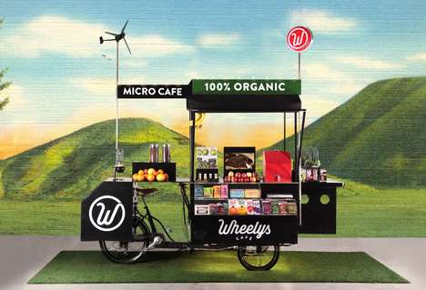 Air-Purifying Coffee Carts - The 'Wheelys 4' Mobile Cafe is an Uber-Eco Way to Sell Fresh Coffee