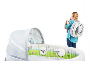 The Lulyboo Baby Lounge Travel Bed is a Multi-Use Product for New Babies