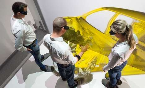 Gesture-Based Virtual Auto Systems - Audi is Testing a Virtual Assembly Program for Car Analysis