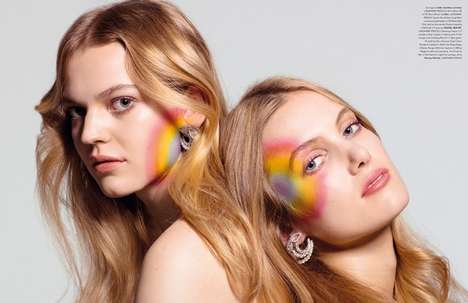 Playful Rainbow Cosmetics - Rui Faria's 'Chasing Rainbows' Image Series Features Vibrant Makeup