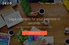 Legal Contract-Creating Platforms - The Juro Platform Helps Small Businesses Create Legal Documents