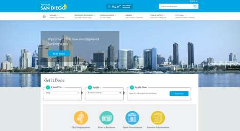 Minimalist Municipal Websites - The Revamped San Diego Website Boasts a Clean and User-Friendly Look