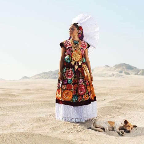 Traditional Zapotec Portraits - Diego Huerta Captures the Colorful Side of Mexican Culture