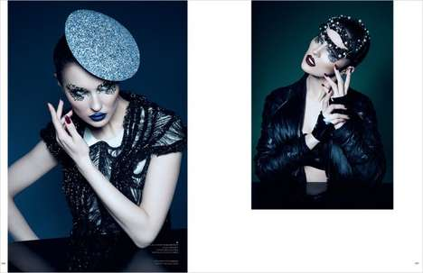 Avant-Garde Accessory Editorials - Camilla Camaglia's '32 Eye Spy' Story Features Luxe Headpieces