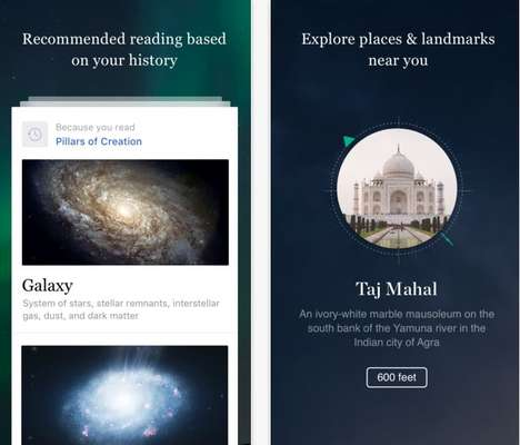 Visually Boosted Encyclopedia Apps - The New Wikipedia iOS App Encourages Discovery