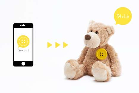 Talking Toy Buttons - 'Pechat' Turns Playthings into Interactive Talking Toys