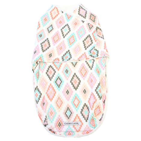 Personalized Swaddling Blankets - These Swaddle Wraps Can Be Monogrammed with the Name of a Newborn