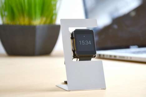 Etched Metal Watch Docks - These Smartwatch Stands Show What's Possible with a Single Piece of Metal