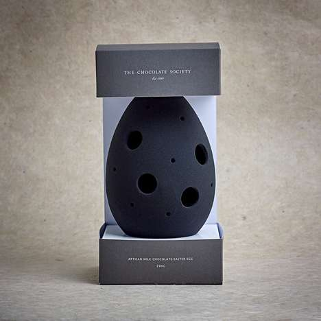 Achromatic Chocolate Eggs - These Easter Chocolate Eggs Only Come in Black, White and Gray