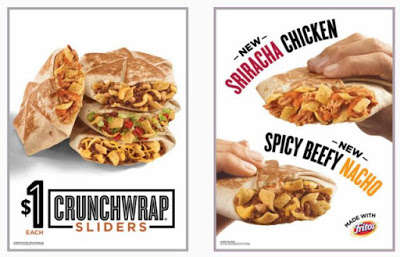 Spicy Handheld Wraps - These Spicy Crunchwrap Sliders are Made for Snacking on the Go