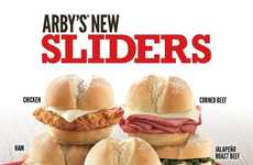Meaty Snack-Sized Sandwiches - The New Arby's Sliders are Scaled-Down Versions of the Originals