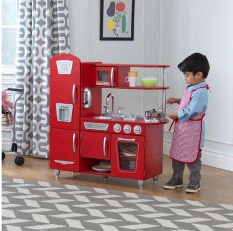 Gender-Inclusive Kitchen Sets - KidKraft's Retro Kitchen Toy Targets Aspiring Young Chefs