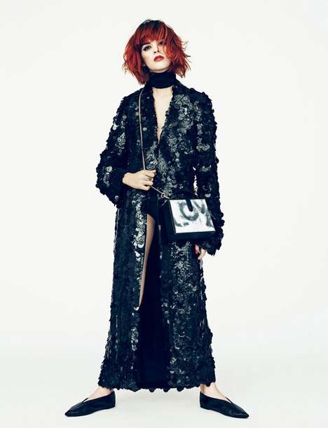 Youthful Couture Editorials - DJ and Model Sita Abellan Fronts this Edgy Fashion Story