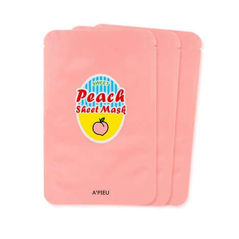 Peach-Based Face Masks - A'PIEU's Peach Sheet Masks are Infused with Nutritious Yogurt Extracts