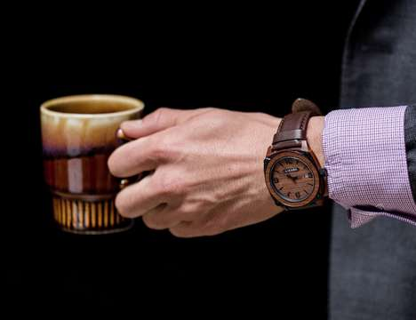 Wooden Industrial Watch Styles - The 'HIKARO' Features a Comfortable Handcrafted Design Aesthetic