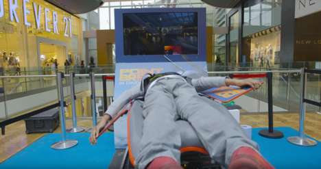 Mall Skydiving Simulators - Warner Bros Used Virtual Reality Skydiving to Promote 'Point Break'