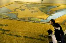 This Massive Pikachu Mosaic was Created with 13,000 Pokémon Cards