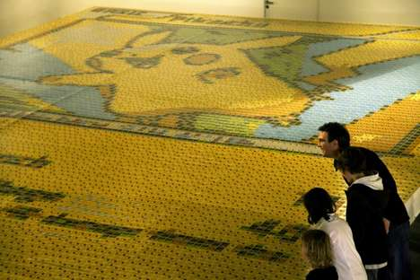 Anime Card Mosaics - This Massive Pikachu Mosaic was Created with 13,000 Pokémon Cards
