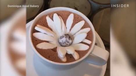 Blooming Truffle-Filled Marshmallows - This Marshmallow Flower Blooms When Dropped into Hot Cocoa